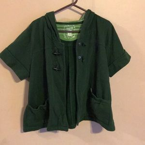 Size 2x Maurices short sleeve hooded jacket